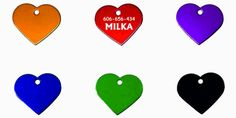 Identyfikator dla zwierząt - serce (grawer, IZGA3) :: NANA