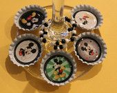 Mickey Mouse Disney Inspired  Bottle Cap Wine Charms