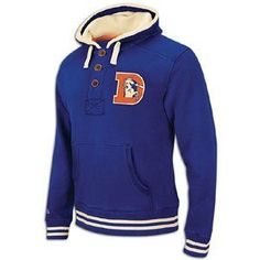 Amazon.com: Denver Broncos Blue Mitchell & Ness Time Out Pullover Hooded Sweatshirt: Sports & Outdoors