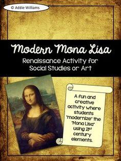 Renaissance Art / Social Studies Activity - Create a Moder   by Addie Williams   $1.75