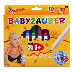De punt van de baby stiften kunnen niet ingedrukt worden. Uitwasbaar uit kleding. #stiften #baby #peuter #knutselen #uitwasbaar