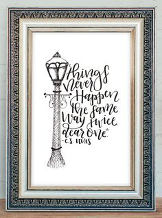 Narnia Quote Instant Download Printable Things Never by MiniPress