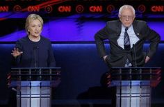 Clinton, Sanders both say they can beat Trump during feisty Michigan debate #Politics #iNewsPhoto
