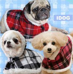 チェック × ファーがキュートなケープ!of ドッグ|ドッグファッション-Dog Fashion-