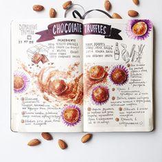 Chocolate Truffles Recipe Домашние Трюфели #recipejournal_mp by maria.pedinich