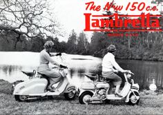 Lambretta advert classic 1960s Vespa Mod Mini Culture Scooter Vintage Style…