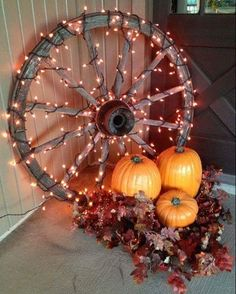 I saw this on Facebook and I love it. I think I'll do this! #Fall #falldecor #pumpkin #orange #lights