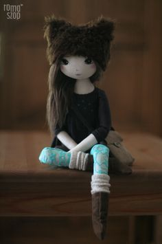 Uchu – roma biegnąca, handmade doll by romaszop