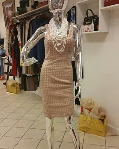 Want to walk into work looking professional & fabulous? Shop at Filetta's Couture Boutique for this baby pink dress. We have unique fashion items and styles to choose from. www.filettas.com #localboutique #pinkdress #workdress #professionalofficedress #ladiesdress #workstyle #shopping #fashiondress