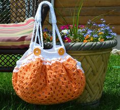 Fatbottom Crochet Granny Square Bag Free Pattern