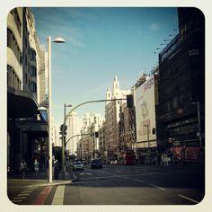 Gran Vía. Madrid.  Photo by picoesquina • Instagram