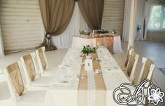 Wedding decoration in rustic style