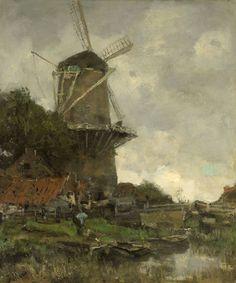 Jacob Maris, De molen, 1880-86, olieverf op doek, 60 x 50 cm, Rijksmuseum, Amsterdam