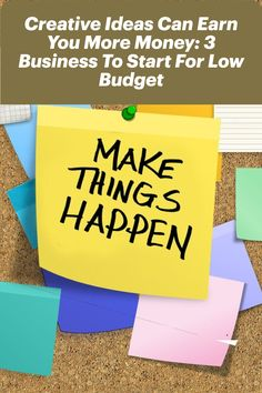 You never know one creative idea can earn you more money, make you proud, and possibly lead to a full-time venture. Check out these 3 business to start for low budget. #startup #startups #Entrepreneurship #Entrepreneur #business #entrepreneurs #Finance #insighttrending Business Mission, Business Goals, Start Up Business, Business News, Starting A Business, Business Planning, Entrepreneurship, How To Plan, How To Make