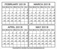 Dc Calendar February 4 2019 149 Best February 2019 Calendar images