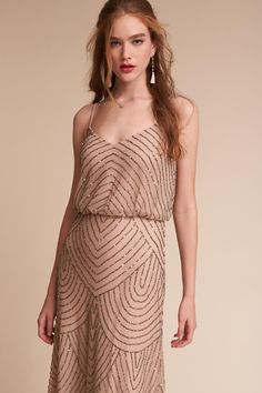 Taupe/pink Eclipse Dress | BHLDN