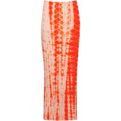 Like the verticle design.     Nicole Tie Dye Print Jersey Maxi Skirt ($20) ❤ liked on Polyvore