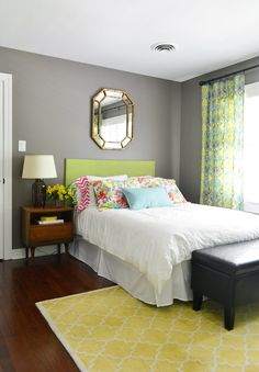love this wall color. Sparrow (by Benjamin Moore)