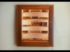 Cigar Humidor, Cigar Bar, Humidor Cabinet, Leather Cigar Case, Cigar Club, Cigar Cases, Cigar Room, Smoking Pipes, Diy Wall