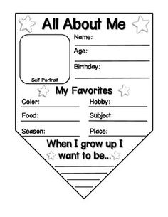 All About Me Free Printable Worksheet Worksheets Activities