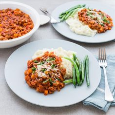 Pork Ragù with Mashed Potato and Parmesan Cheese