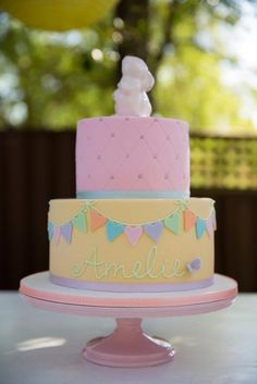 Incredible pastel cake! See more party ideas at CatchMyParty.com!