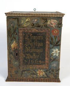 1664 Norwegian hanging cabinet.