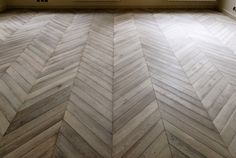 Parquet Chevron in oak, gray leached- someday I'd love a floor like this. This is beautiful!