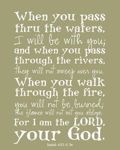 Isaiah 43:2-3 - What a promise!!