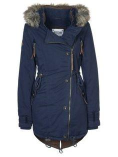 Een nice wintercoat - Naketano Winterjas Dark Blue