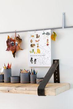Leren plankdragers - KARWEI