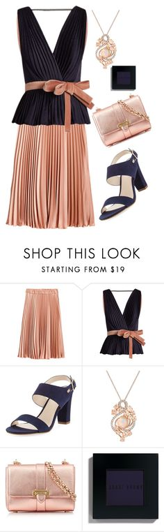 """Navy and Peach"" by coolhewie ❤ liked on Polyvore featuring Roksanda, Cole Haan, LE VIAN, Aspinal of London and Bobbi Brown Cosmetics"
