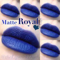 Mac Matte Royal Lips Sexy Makeup, Full Face Makeup, Lip Makeup, Makeup Tips, Makeup Looks, Blue Lipstick, Mac Matte Lipstick, Blue Eyeliner, Mac Lipsticks