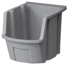 Suncast MRB56G Resin Parts Bin, Gray by Suncast. $6.13. From the Manufacturer                Storage Trends® Resin Bin                                    Product Description                Gray, Resin Bin, Ideal For Nails, Screws, Bolts & More, Mounts Easily To Slat Wall Or Dry Wall, Heavy Duty Resin Construction, Use With Slat Wall From Suncast Model #SW04G & ST04G.