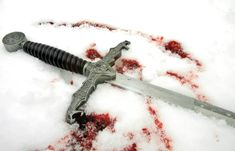 Maybe when Inwè gets shot? What if her friends weren't there and they came across her sword and blood in the snow?