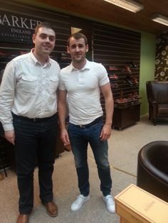 Northern Ireland and Aberdeen Striker Niall McGinn purchased a pair of Barker - Rutherford in Black cobbler @ Robinsons Shoes Aberdeen, Cobbler, Northern Ireland, Celebrity Pictures, Robin, Sons, Pairs, Celebrities, Black