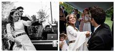 SANDRA + JORDI  Trenza deshecha con corona de flores y maquillaje de novia, Eva Pellejero. Vestido diseñado por Sandra, de Cruz Temprado. Celebración en Villa Santa Ana. Fotografías de La Gran Ilusión