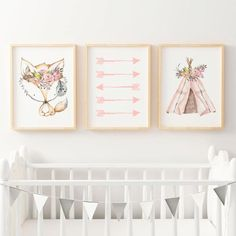 Girls Tribal Nursery Decor with Persona - Blakely Baby Name - Ideas of Blakely Baby Name - Tribal Boho Watercolour Antlers Teepee. Girls Tribal Nursery Decor with Personalised name print Tribal Nursery, Boho Nursery, Nursery Wall Art, Bedroom Wall, Nursery Decor, Nursery Ideas, Bedroom Prints, Rustic Nursery, Baby Bedroom
