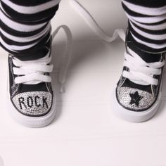 Blinged out baby converse - Vivi should rock these.