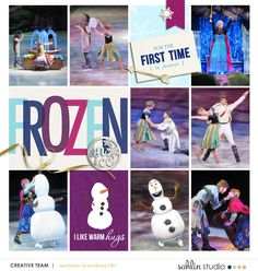Frozen on Ice digital Project Life layout featuring Project Mouse: Ice by Britt-ish Designs and Sahlin Studio Scrapbook Designs, Scrapbooking Layouts, Digital Scrapbooking, Project Life Scrapbook, Project Life Layouts, Digital Project Life, Disney On Ice, Disney Scrapbook Pages, Projects