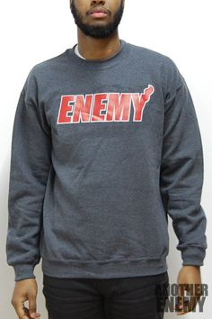 Miami Enemies Crewneck in Grey - $30.00 www.anotherenemy.com Another Enemy