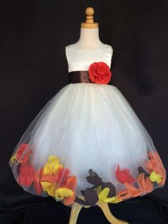 Ivory Flower Girl Bridesmaids Fall Wedding Mixed Petal Toddler Girl Dress in Clothing, Shoes & Accessories, Specialty, Wedding & Formal Occasion, Girls' Formal Occasion Fall Wedding Bridesmaids, Bridesmaid Outfit, Wedding Dresses, Girls Fall Dresses, Toddler Girl Dresses, Wedding Costs, Budget Wedding, Wedding Ideas, Fall Flower Girl