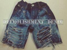 DeeMolishment #Denim #kids #shorts
