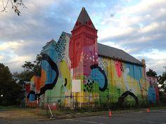 modern art mural painting hense