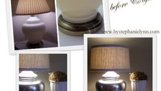 Thrift Store Lamp Mercury 'Mirrored' Glass Makeover with Covered Shade
