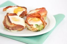 Bacon Avocado Egg Cups..turkey bacon and avocado .... needs a little tweaking, but i was sold when it said avocado