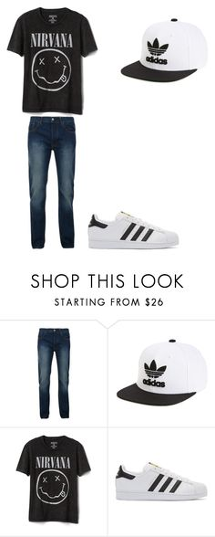 """""""Untitled #204"""" by kaybabync on Polyvore featuring Bellfield, adidas Originals, Gap, men's fashion and menswear"""