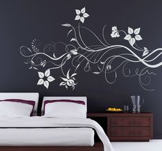 Would you like this beautiful branch with #flowers as a #decoration for your flat? #tenstickers #beautiful #house #pinit