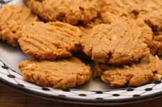 Recipe for Flourless, Sugar-Free, Gluten-Free Peanut Butter Cookies; this is probably my favorite cookie recipe!   [from Kalyn's Kitchen] #HealthyHolidays  #Gluten-Free  #SugarFree