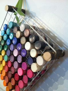 Also a great idea for nail polish! Crafty Craft, Crafty Projects, Diy Projects To Try, Crafting, New Crafts, Diy Arts And Crafts, Home Crafts, Spring Cleaning Organization, Craft Organization